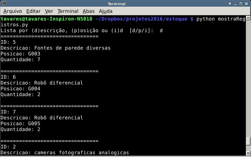 Python e o SQLite - II - Caderno de Laboratório