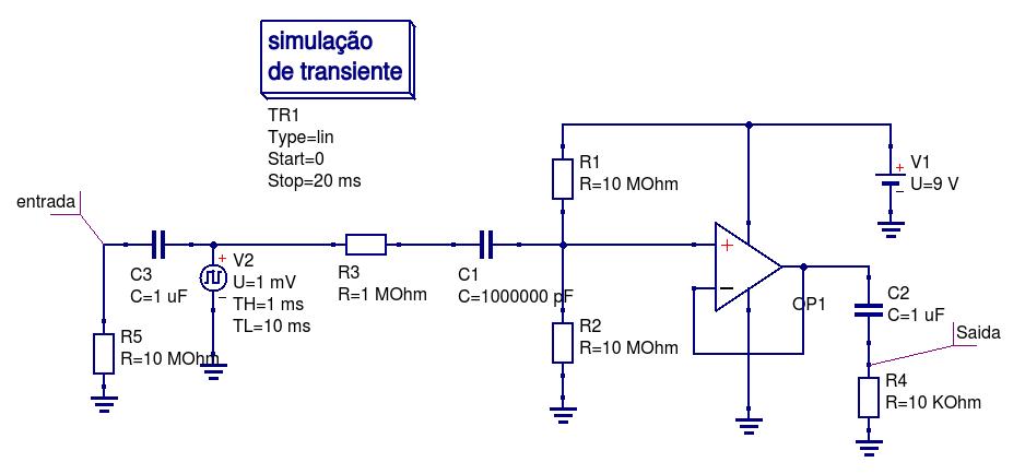 Circuito Operacional : Projeto de um quot buffer com amplificador operacional