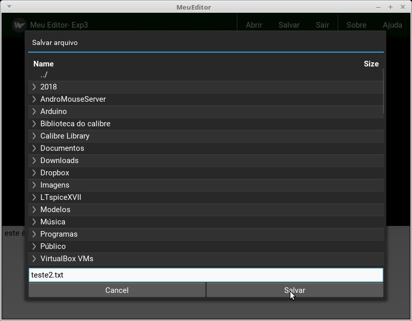 O módulo FileChooser no Kivy - Caderno de Laboratório
