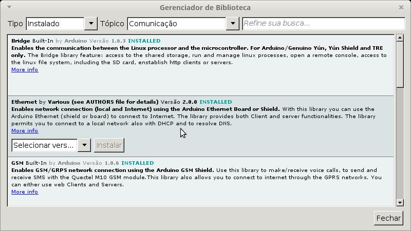 Internet com W5100 e o Arduino - Caderno de Laboratório