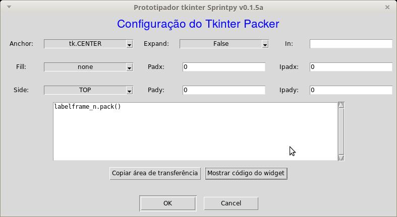 Tkinter Grid Center